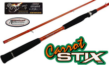 "Load image into Gallery viewer, C2WX-1002MH-MF-S - Wild Orange Giant 2-Piece Spinning Rod 10'0"" Med Hvy Mod Fast"