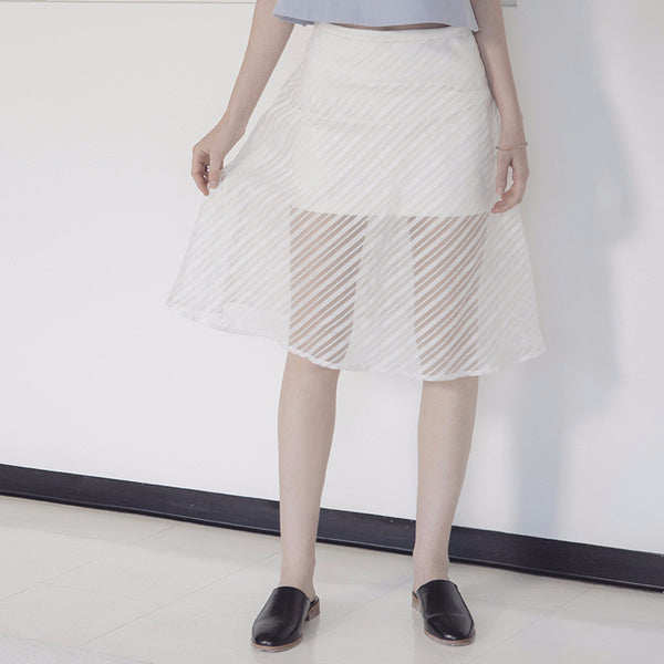 See Through Layered Skirt