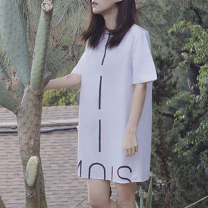 Mois Logo Shirt Dress