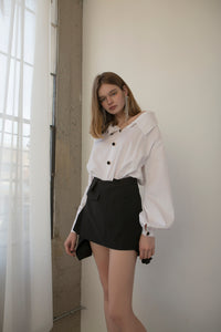 Unbalanced Pleated Skirt