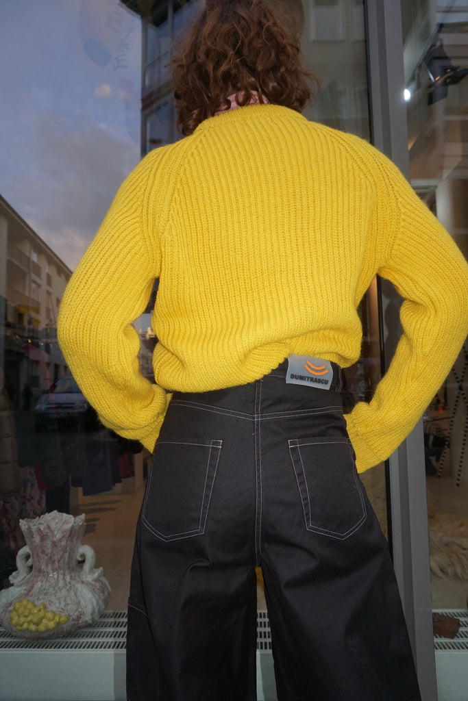 Unisex Wollen Sweater Yellow