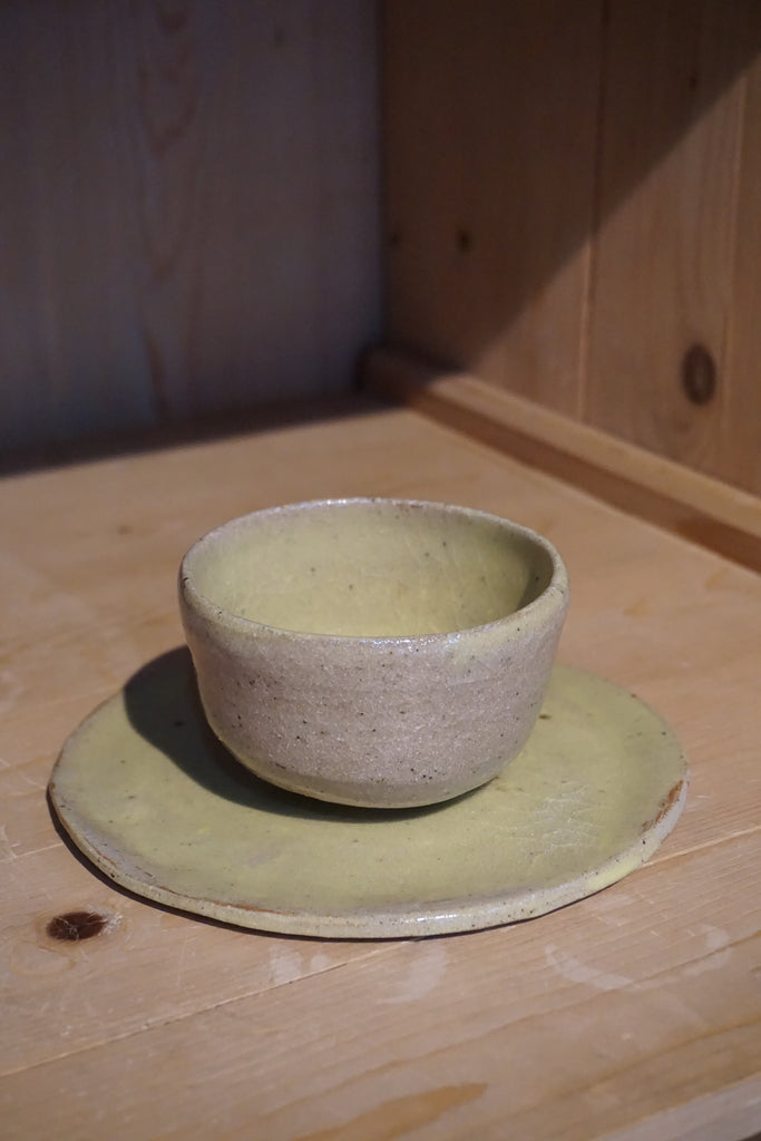 KL Keramik Wheel Thrown Cup and Small Plate