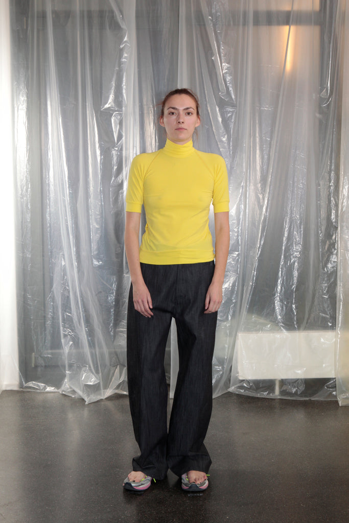 Dumitrascu Turtleneck Short Sleeve, Lemon Yellow
