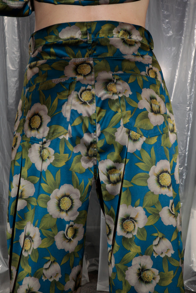 Dumitrascu Large Jeans, Flower Satin