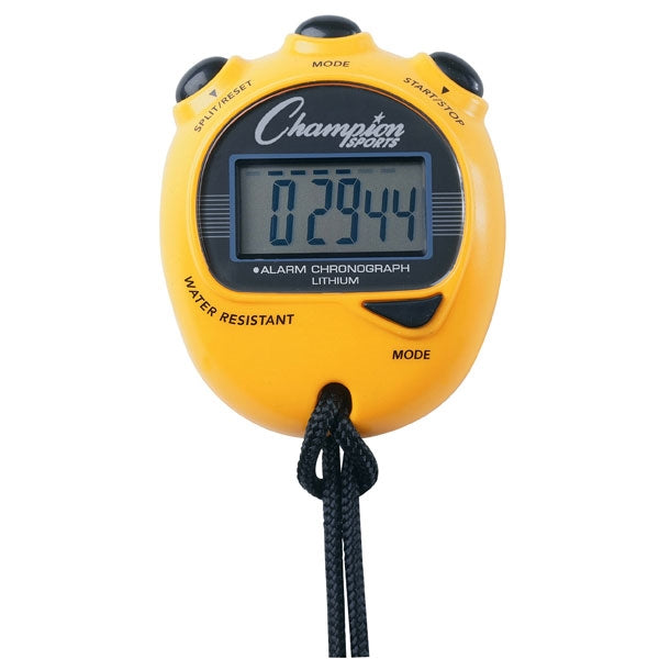 Champion Sports Big Digit Display Stopwatch Yellow