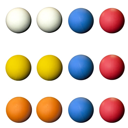 12 Assorted Color Lacrosse Balls