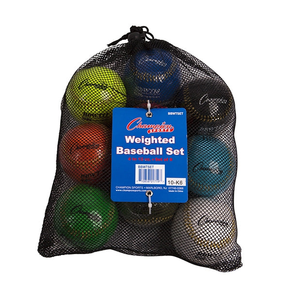 Champion Sports Weighted Training baseballs Set of 9