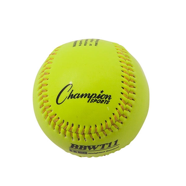 Weighted Training baseballs yellow