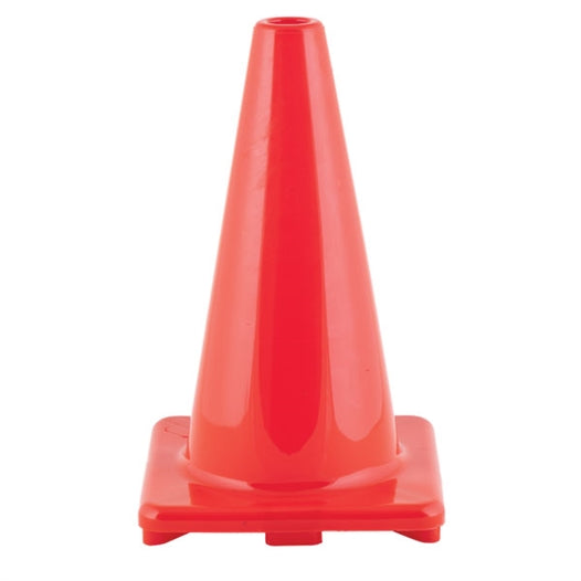 12 inch high visibility orange flexible vinyl cone