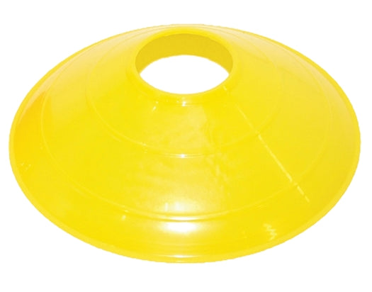 "One Dozen 12"" Disc Cones Yellow"