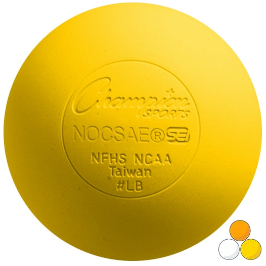 Yellow Champion Sports Lacrosse Ball - Meets NOCSAE Standard SEI Certified