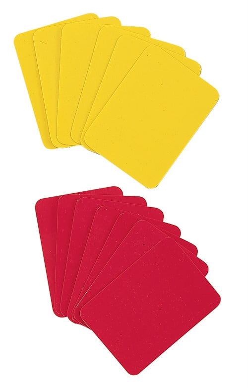 12 Soccer Referee Cards - Six Yellow and Red 2 Packs