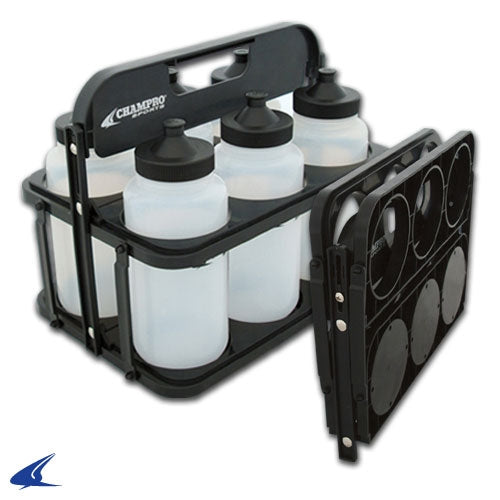 Collapsible Water Bottle Carrier with Bottles