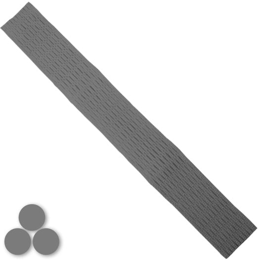 15mm Lacrosse Player Hard Mesh Grey
