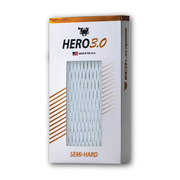 ECD Lacrosse Hero3.0 Semi Hard Mesh White