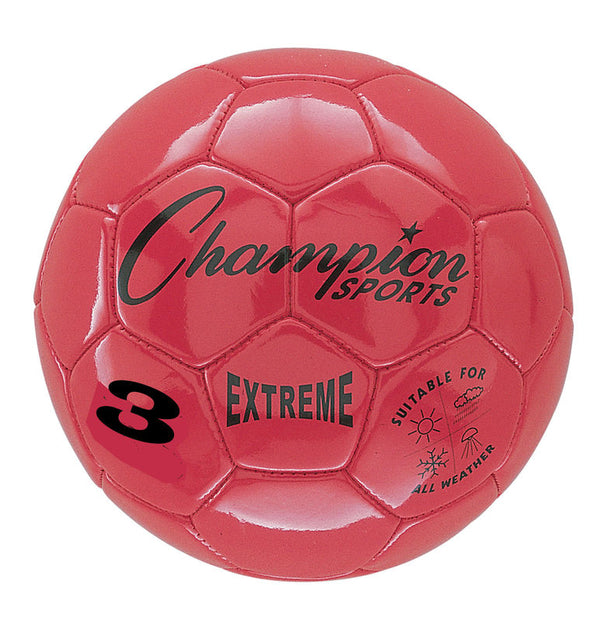 Extreme Soccer Ball  Size 3 Red