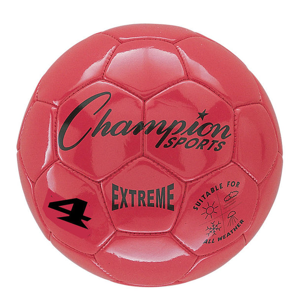 Extreme Soccer Ball  Size 4 Red