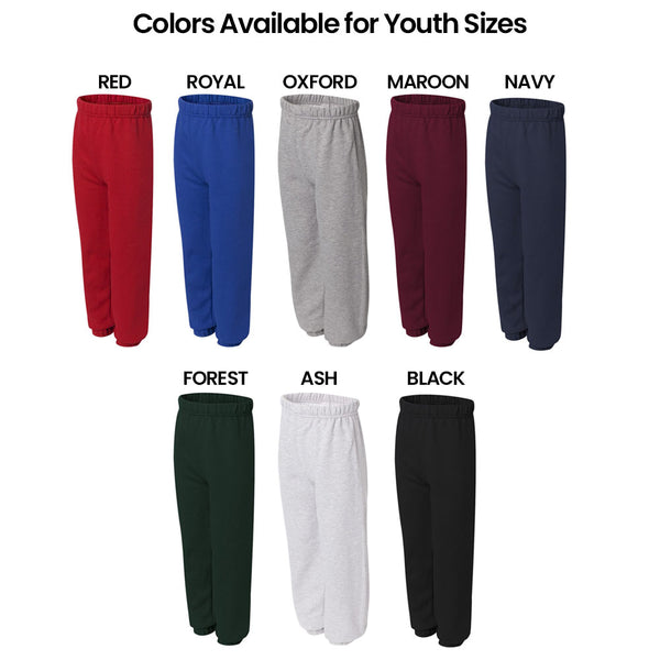 Custom Printed Cinched Bottom Sweats Youth Colors