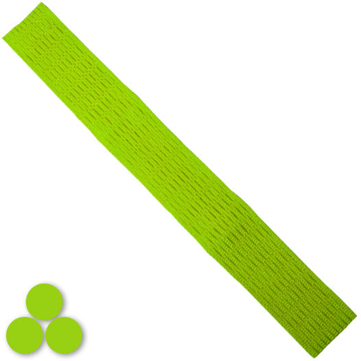 15mm Lacrosse Player Hard Mesh Lime Green
