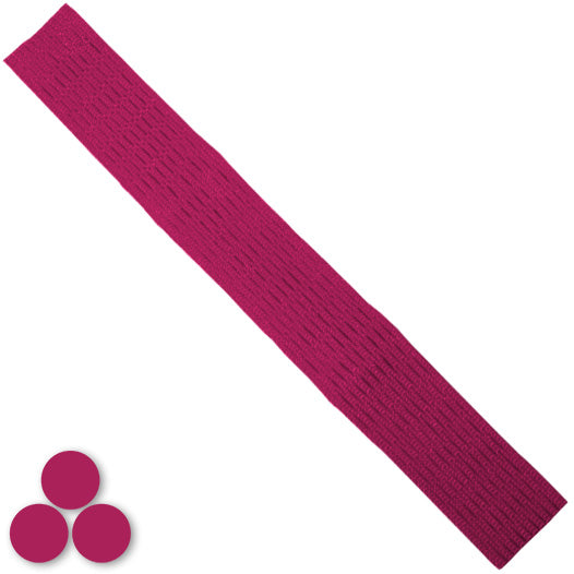 15mm Lacrosse Player Hard Mesh Maroon