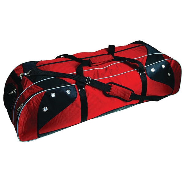 Lacrosse Player Equipment Gear Bag red
