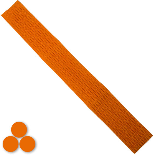 15mm Lacrosse Player Hard Mesh Orange