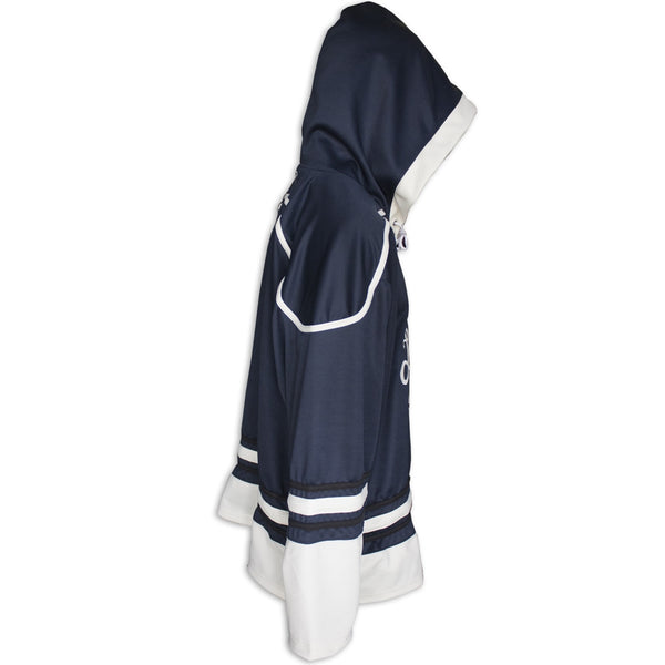 Custom Sublimated Tackle Twill Hockey Hoodie Side View