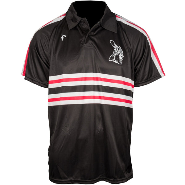 Custom Sublimated Polo Black Stripe