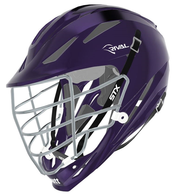 STX Schutt Rival Helmet - Package D2 Chrome purple