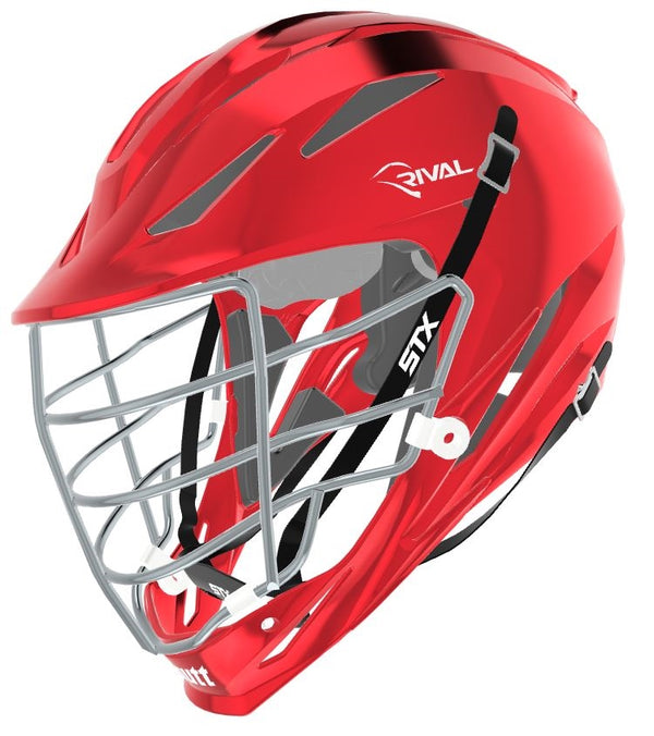 STX Schutt Rival Helmet - Package D2 Chrome red