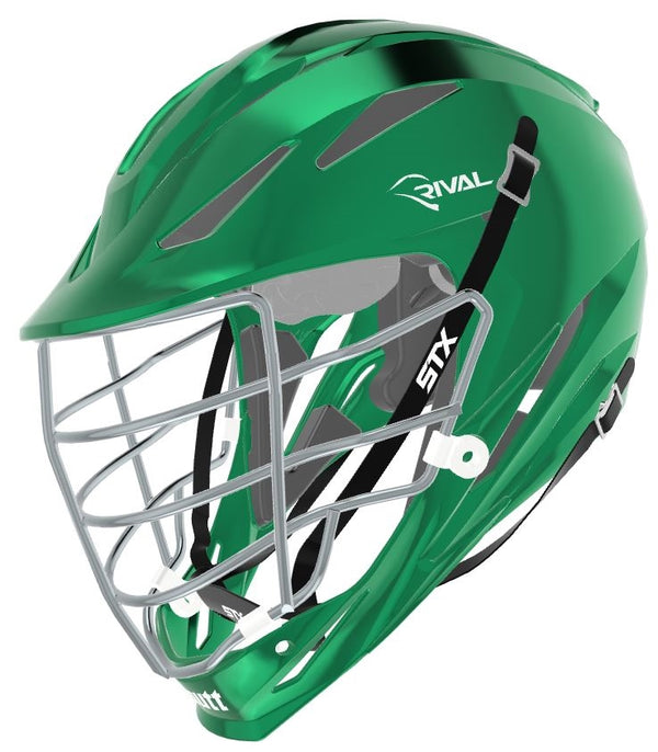 STX Schutt Rival Helmet - Package D2 Chrome kelly green