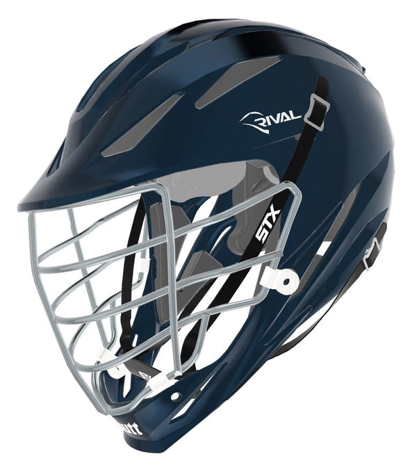 STX Schutt Rival Helmet - Package D2 Chrome blue