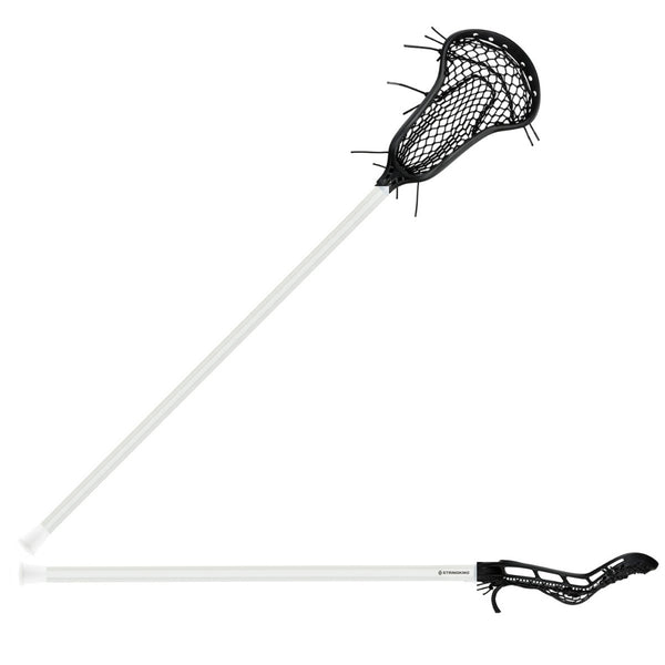 StringKing Womens Complete 2 Pro Midfield Lacrosse Stick Black and white