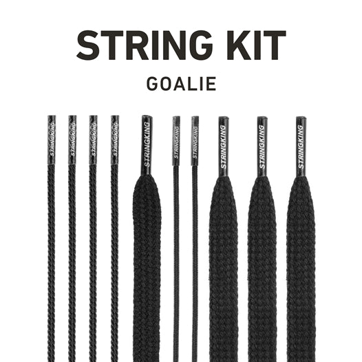 StringKing Goalie Lacrosse Head Strings Kit Black