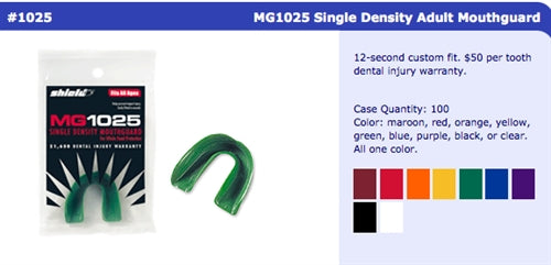 Single Density Adult Mouthguard without Strap