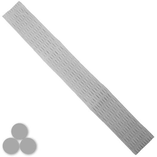 15mm Lacrosse Player Hard Mesh Silver