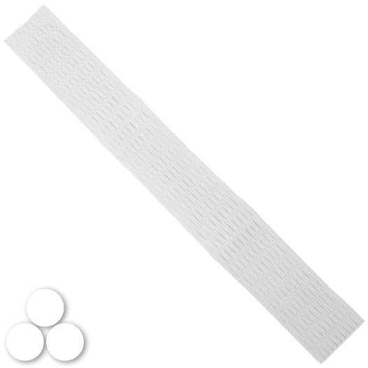 15mm Lacrosse Player Hard Mesh White