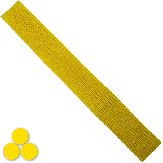 15mm Lacrosse Player Hard Mesh Yellow