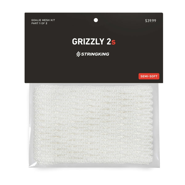 StringKing Grizzly 2s White Lacrosse Goalie Mesh