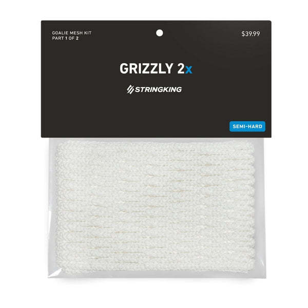 StringKing Grizzly 2x White Lacrosse Goalie Mesh