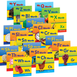Targeted Phonics: More Consonants, Blends, and Digraphs (全21冊)