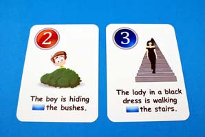Fun Cards: Prepositions of Time and Place