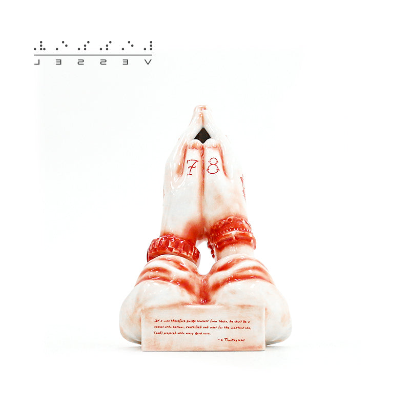 praying hands incense chamber(Red and Purple)