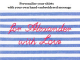 Boy shirt, regular fit, dark blue stripes