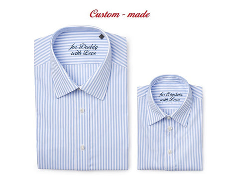 Custom-made, set matching father & son shirts