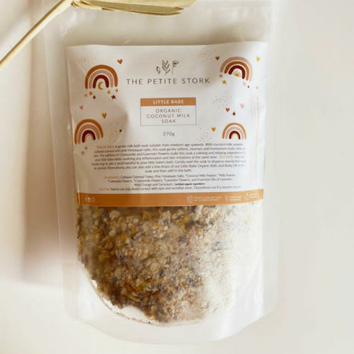 Pouch of Organic Baby Bath milk