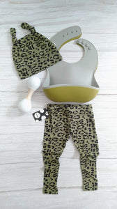 BABY OUTFIT KHAKI LEOPARD