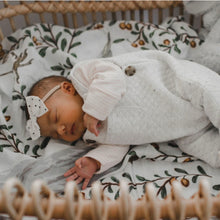 Load image into Gallery viewer, baby-girl-lying-on-side-asleep-in-bassinet