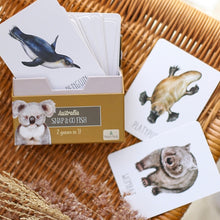 Load image into Gallery viewer, box-of-animal-cards-on-a-table