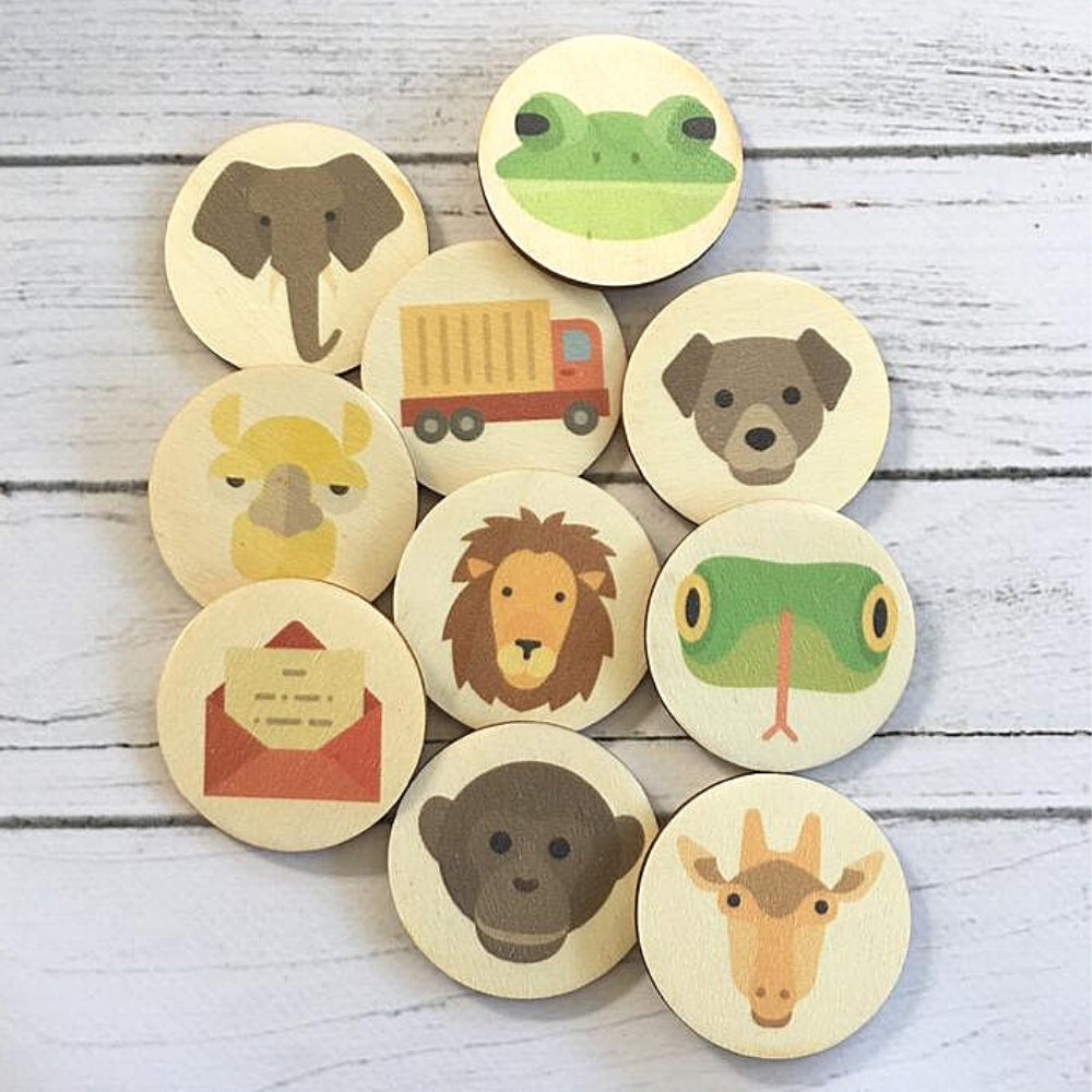 wooden-discs-with-dear-zoo-book-characters